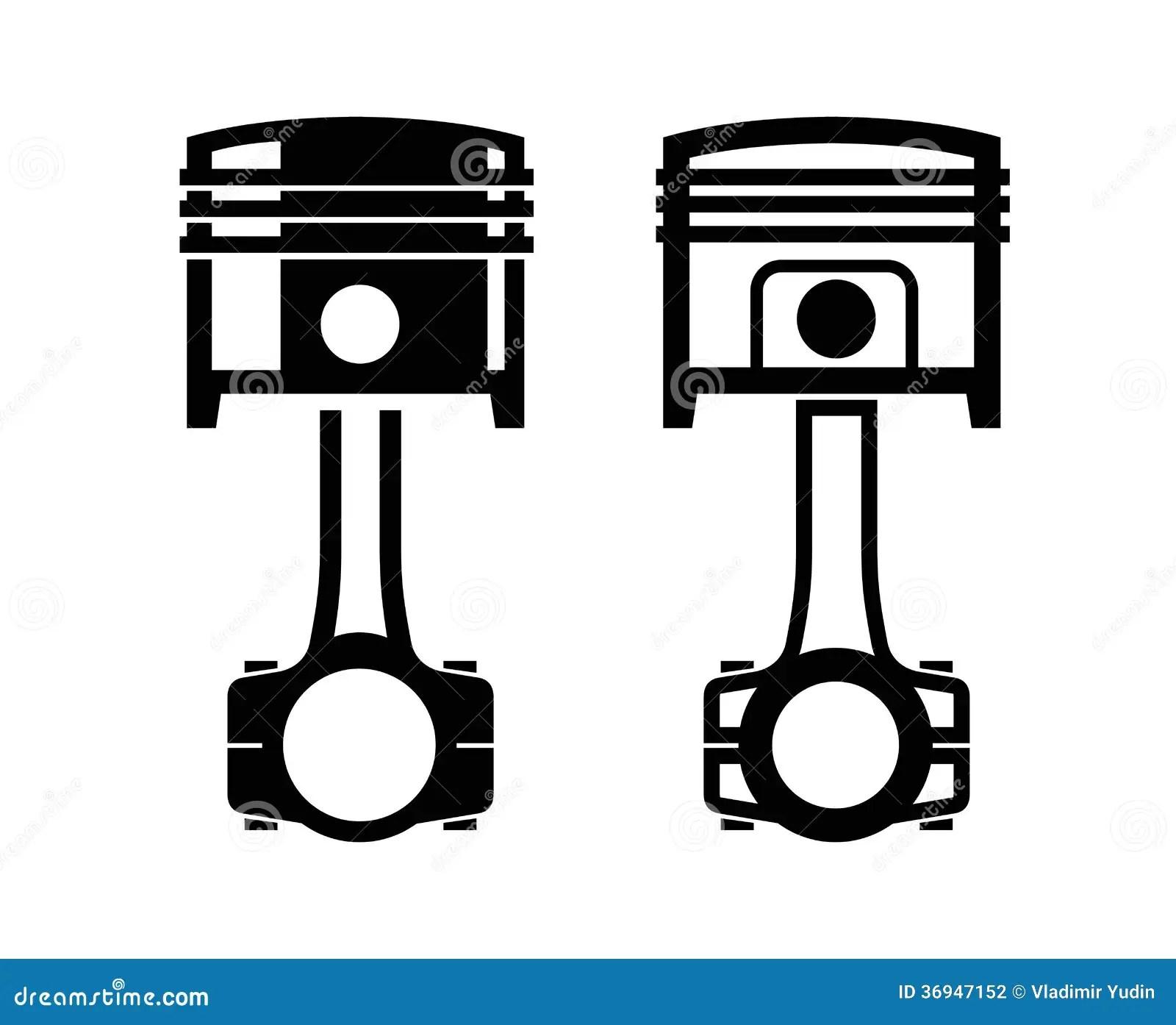 Car Piston Icon Stock Photography
