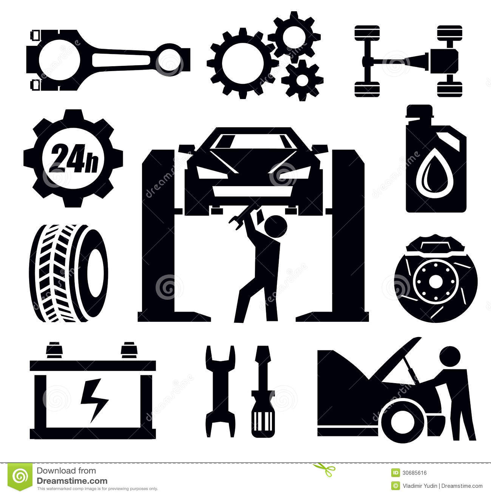 Car Repair Icon Royalty Free Stock Image