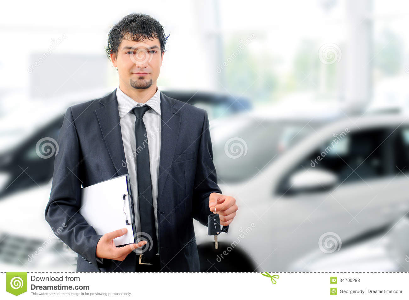 Car Sales Stock Photo Image Of Keys Brown Holding