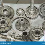 Car Transmission Parts Are On The Table Stock Photo Image Of Maintenance Mechanics 185390296