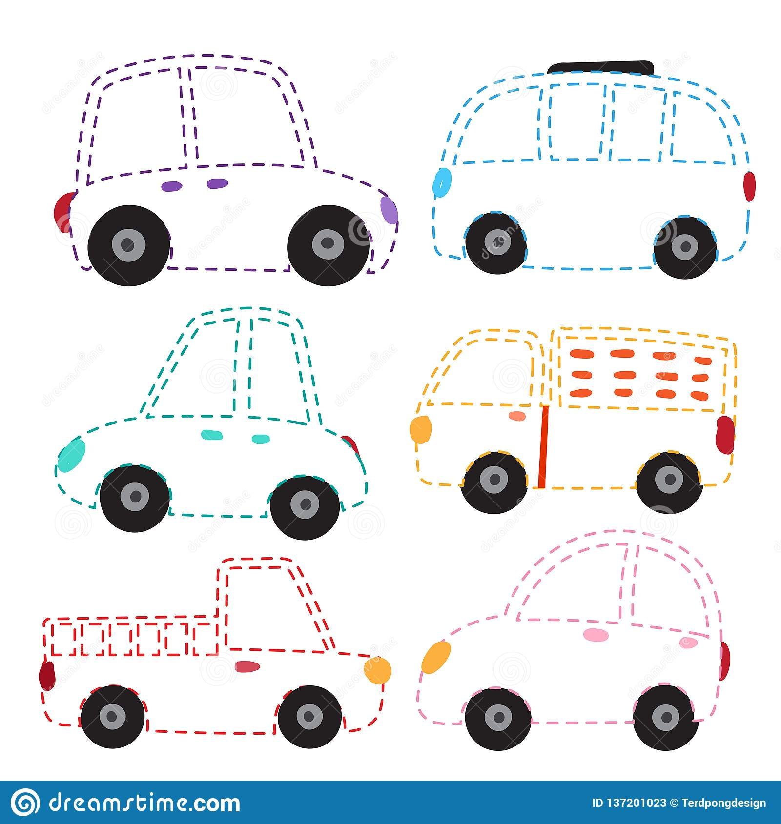 Car Worksheet Vector Design Stock Vector