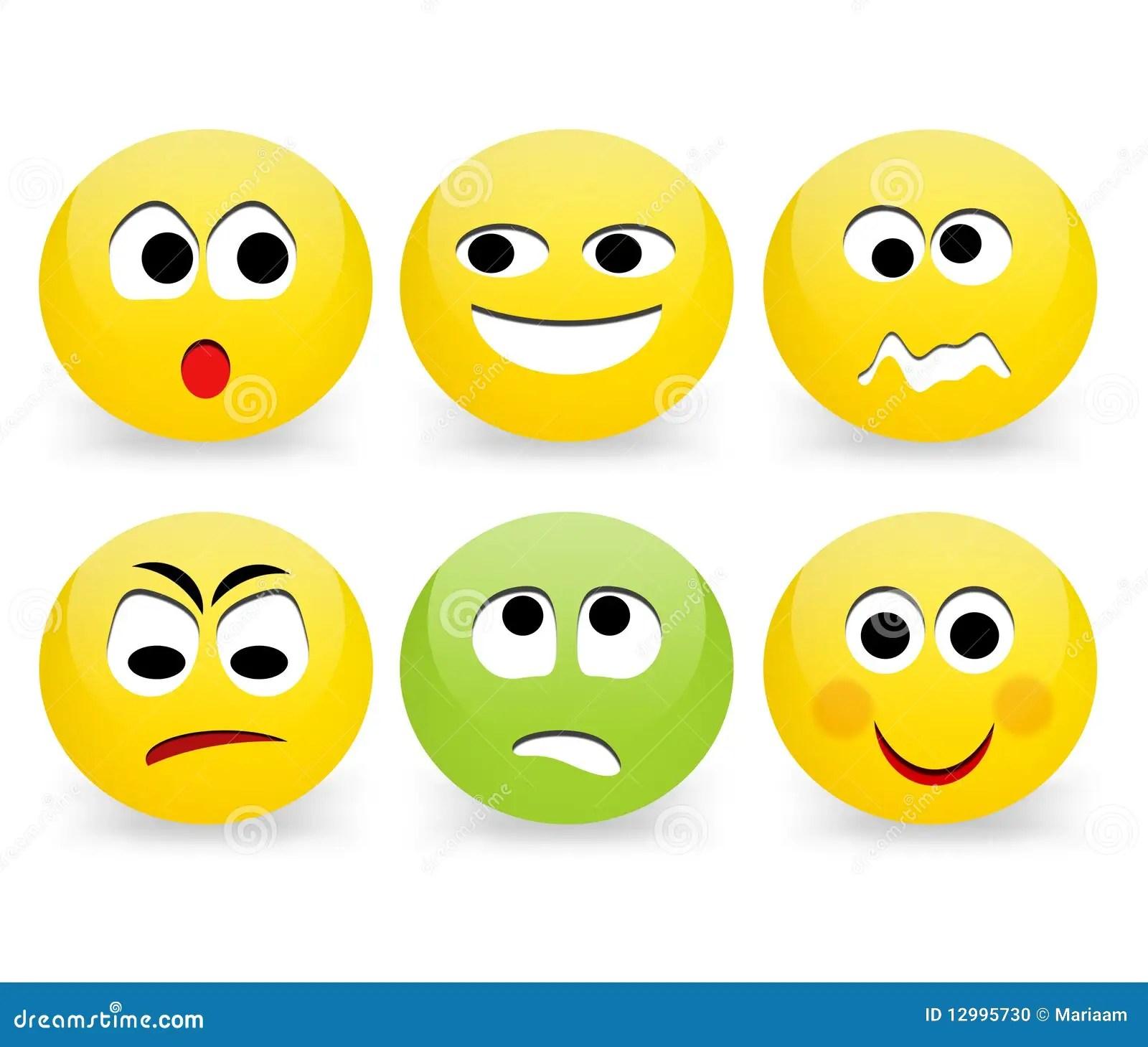 Caras Divertidas Del Emoticon Stock De Ilustracion