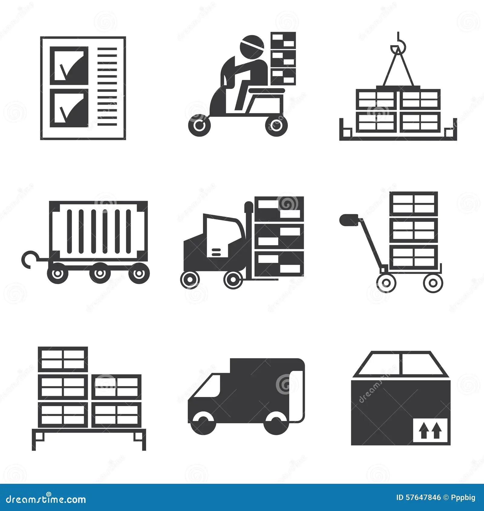 Cargo Icons Stock Illustration Illustration Of Cargo