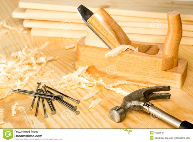 Woodwork Carpentery Variety Of Woodwork Tools Royalty Free Sto