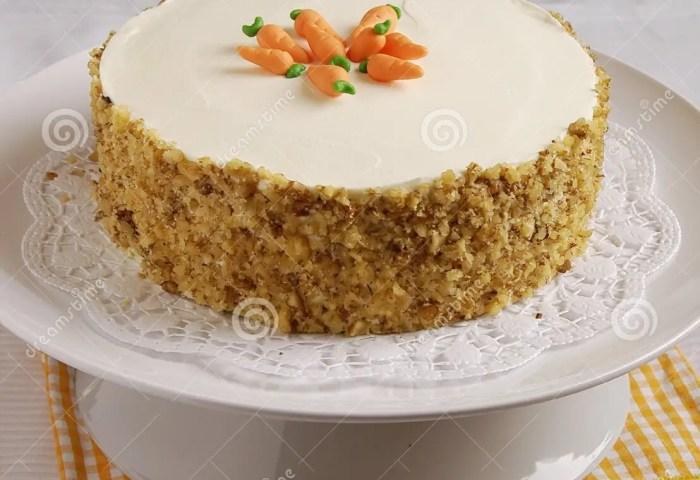 Carrot Cake Stock Image Image Of Marzipan Decoration 26240883