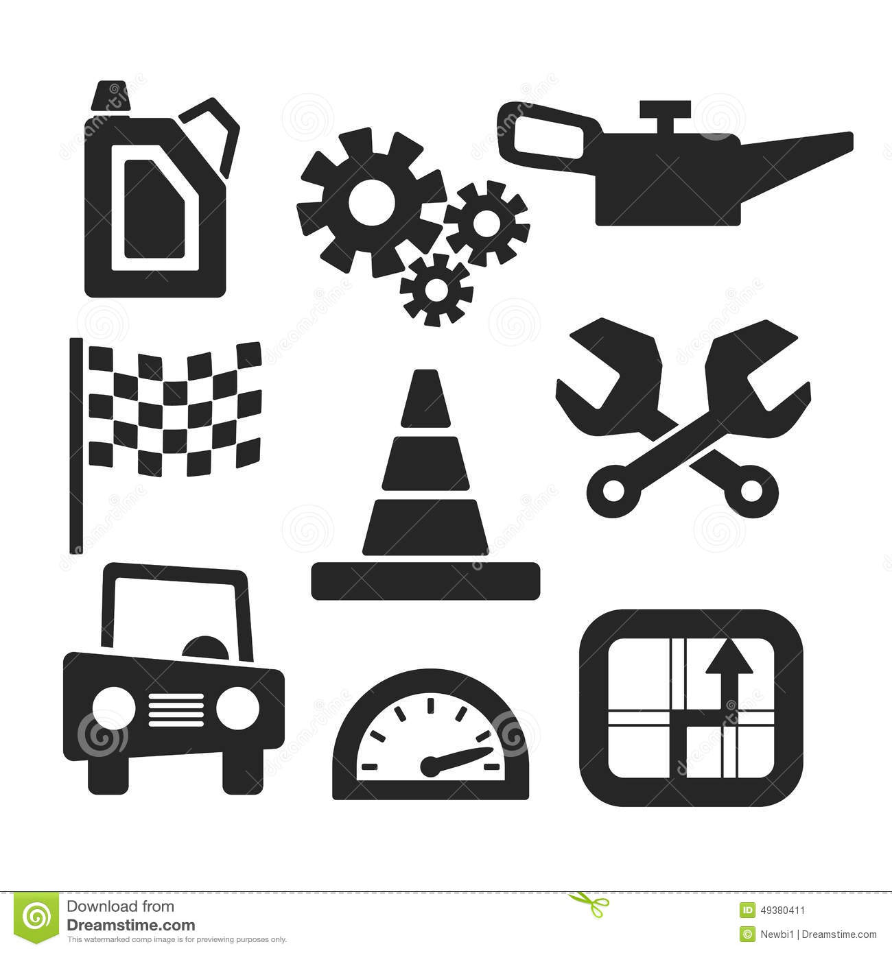 cars vector web and mobile icons vector stock vector