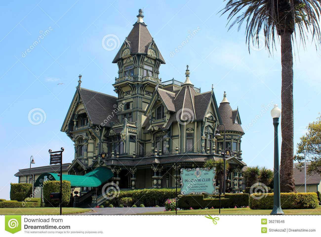 The Carson Mansion Eureka California Editorial Photo