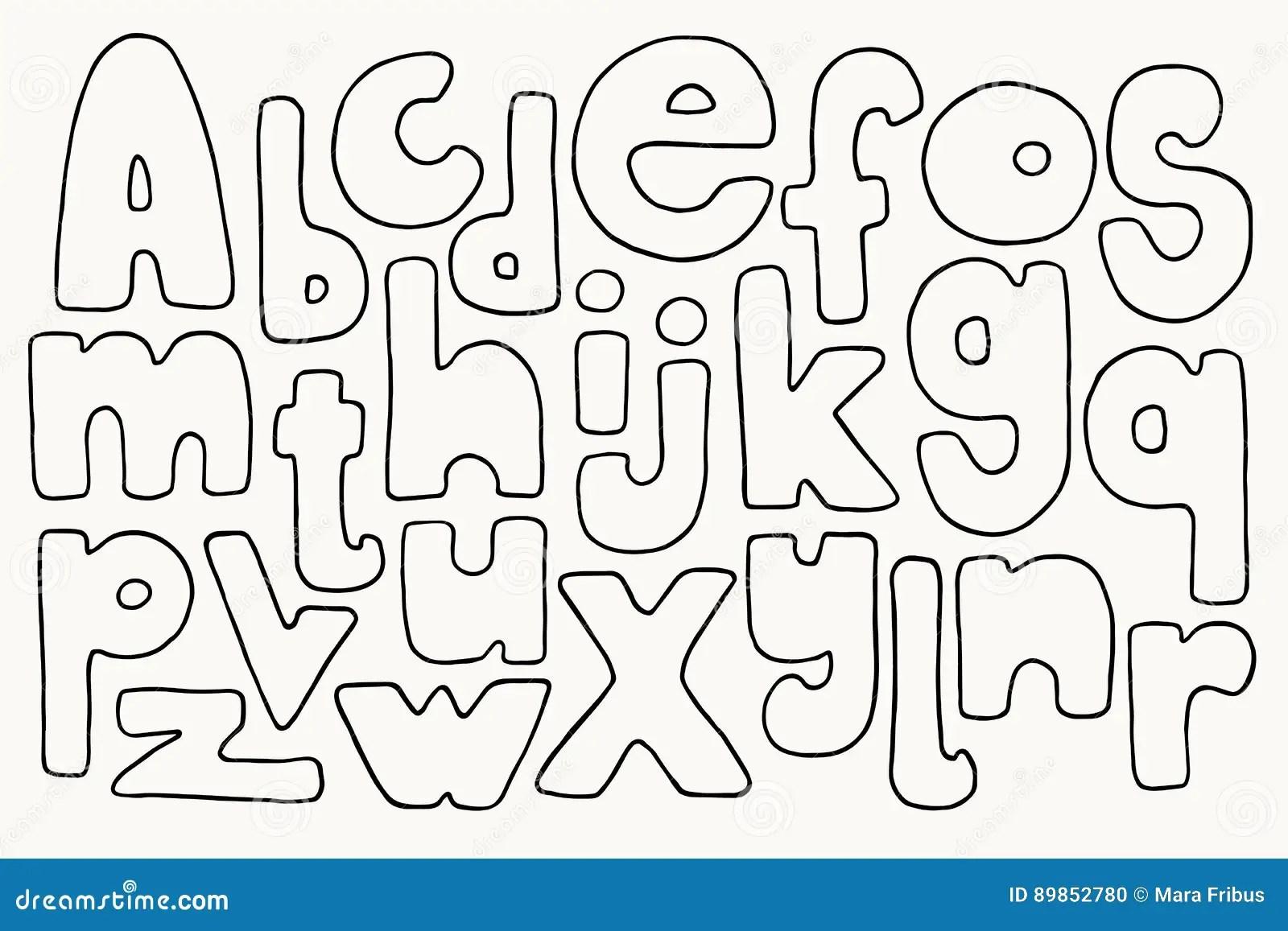Cartas Drenadas Mano Ilustracion Del Vector Ilustracion