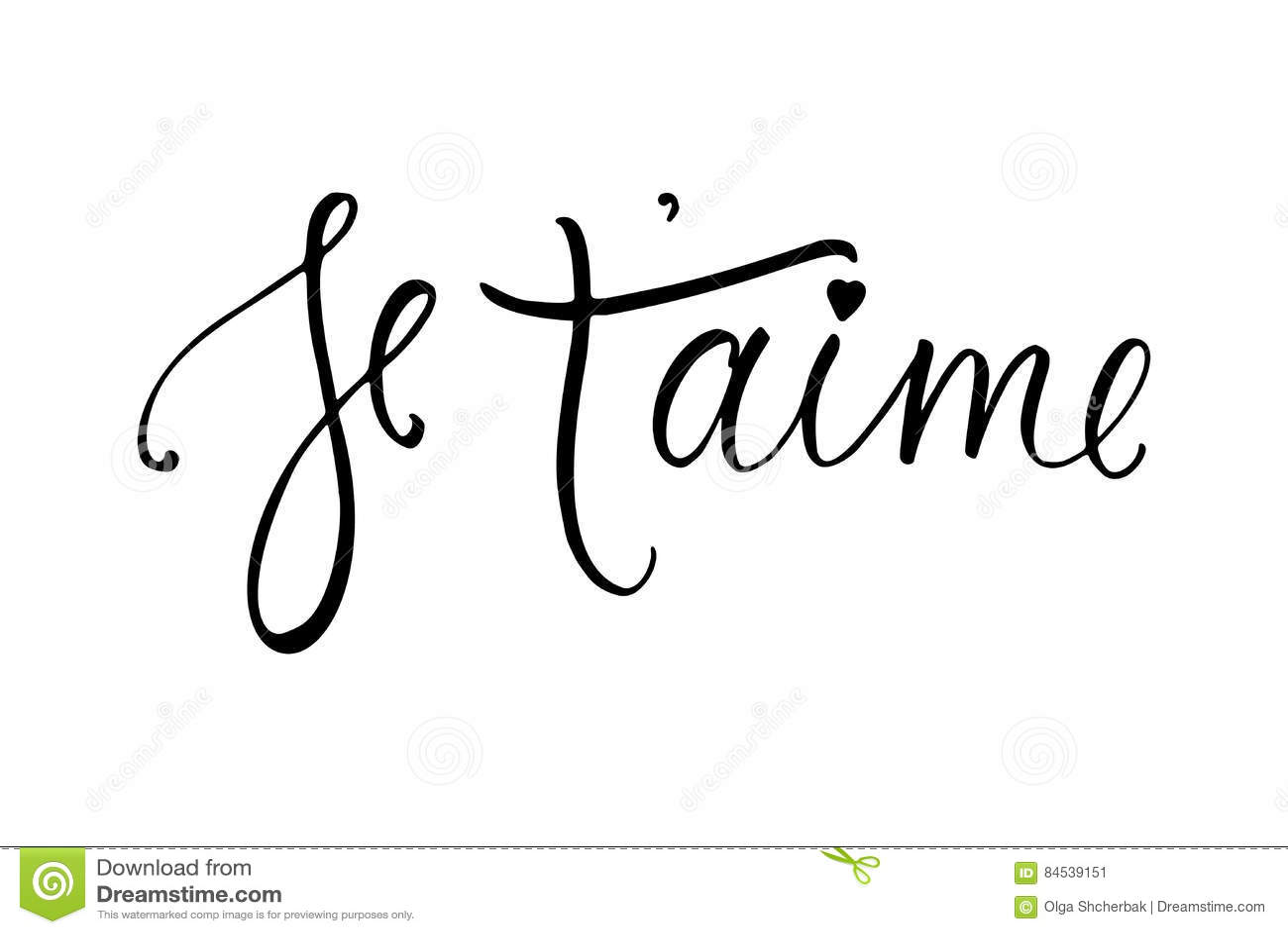 carte d aime de de je t je t aime en francais