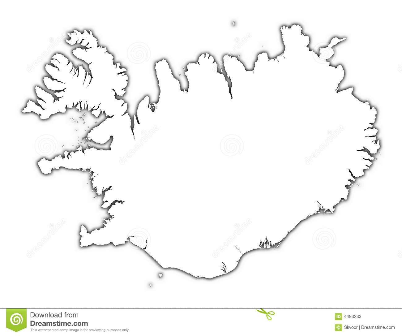Carte D Ensemble De L Islande Illustration Stock