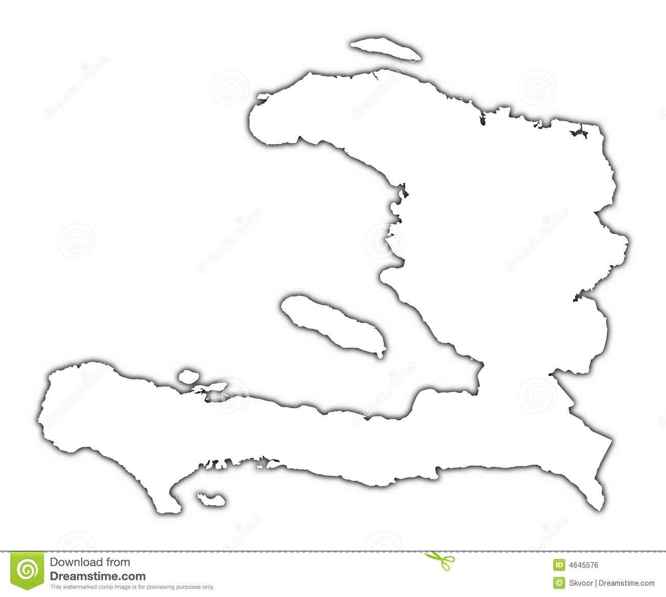 Carte D Ensemble Du Haiti Illustration Stock Illustration