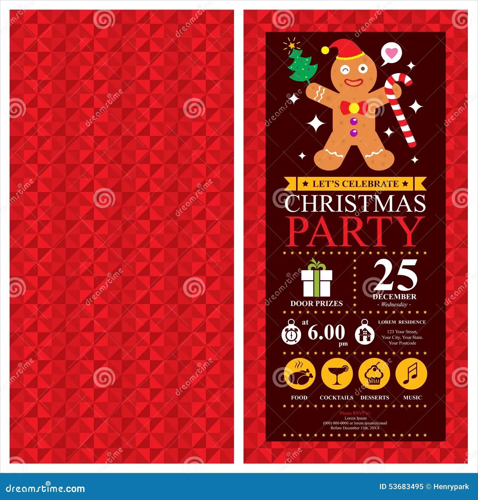 carte d invitation de fete de noel illustration de vecteur illustration du festive evenement 53683495