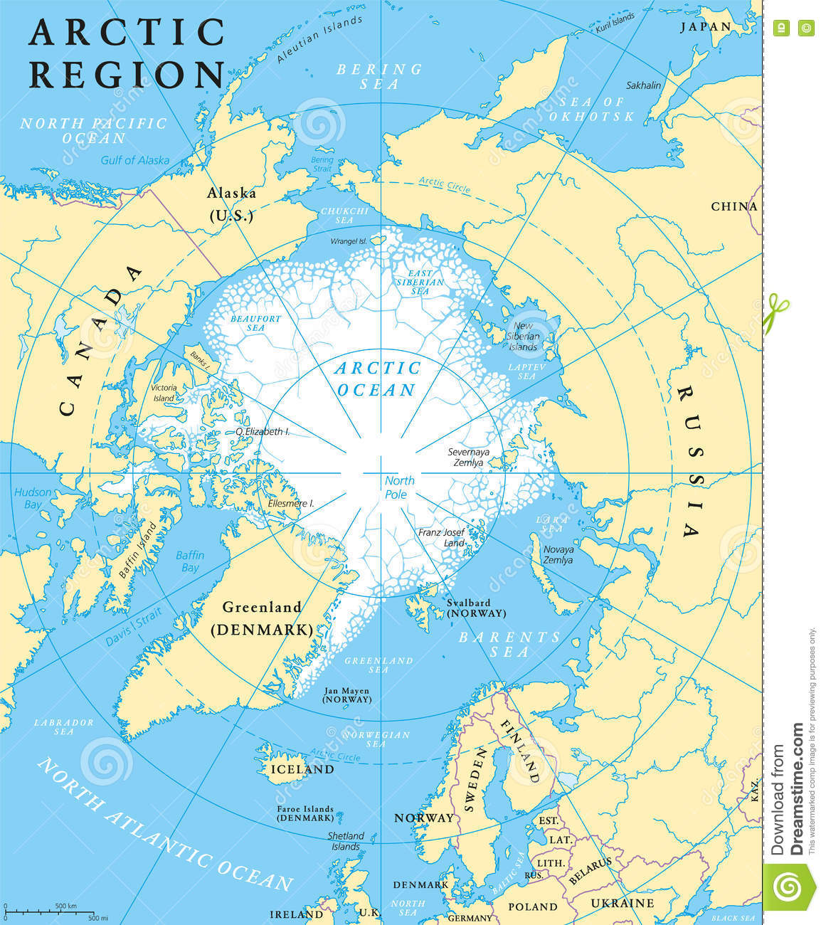 Arctic Circle Canada Map