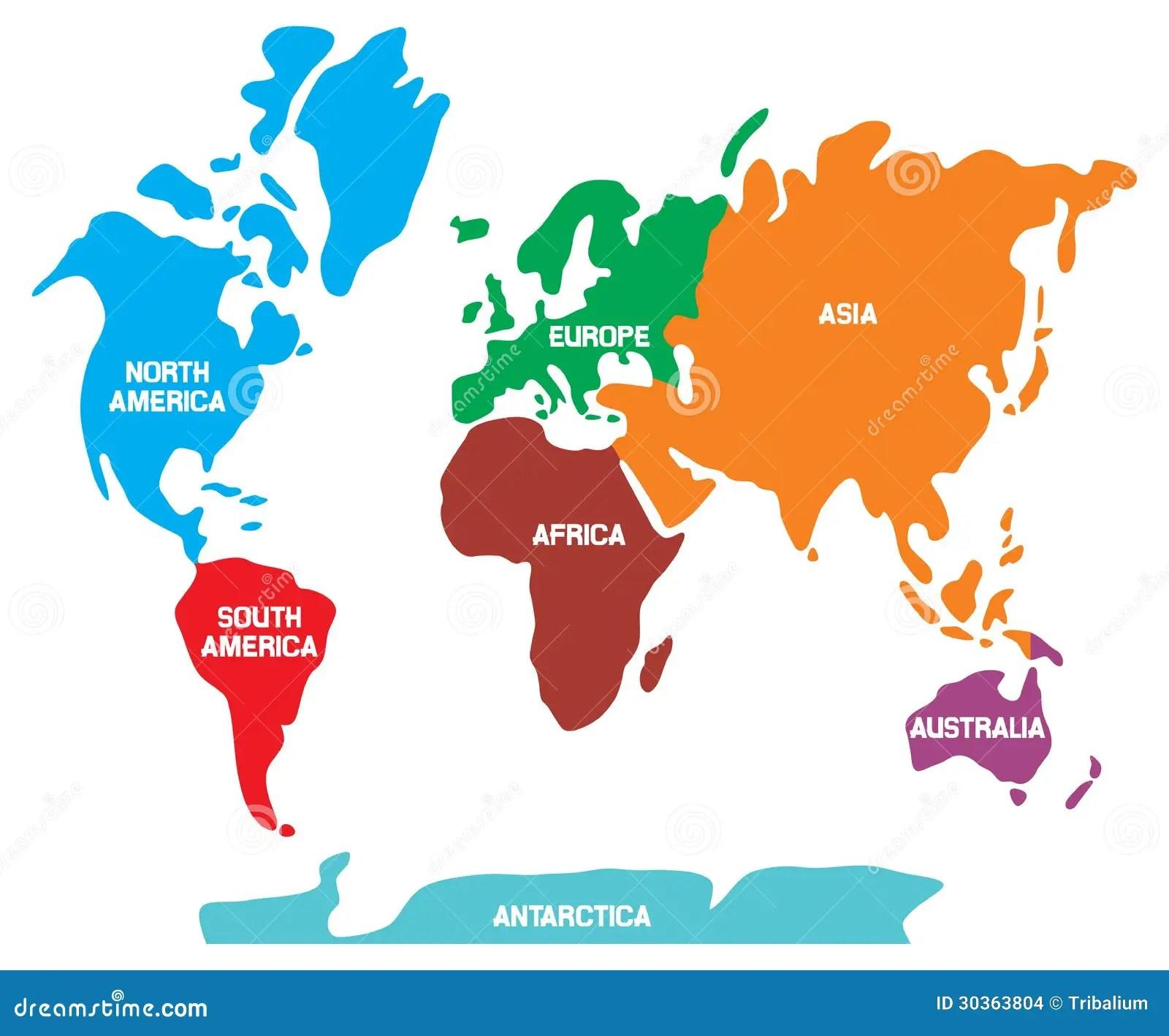 Carte Du Monde Illustration De Vecteur Illustration Du Ocean