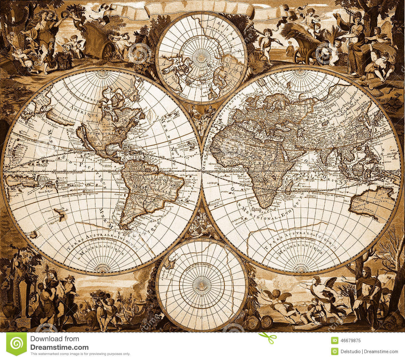 Vintage world map artsy gumiabroncs Image collections