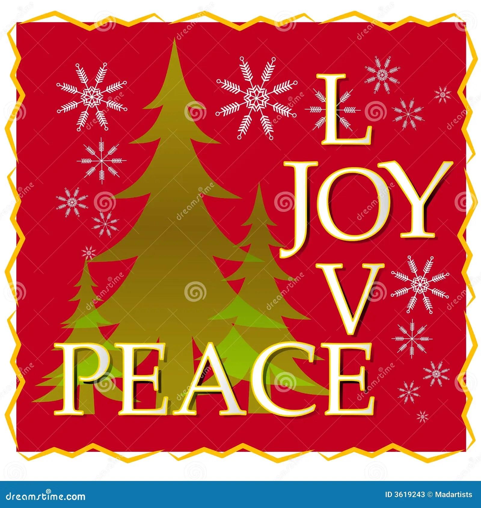 Cartolina Di Natale Di Pace Di Gioia Di Amore Con Lalbero