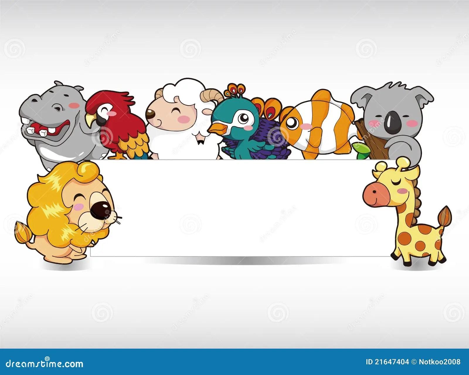 Cartoon Animal Card Stock Images Image 21647404