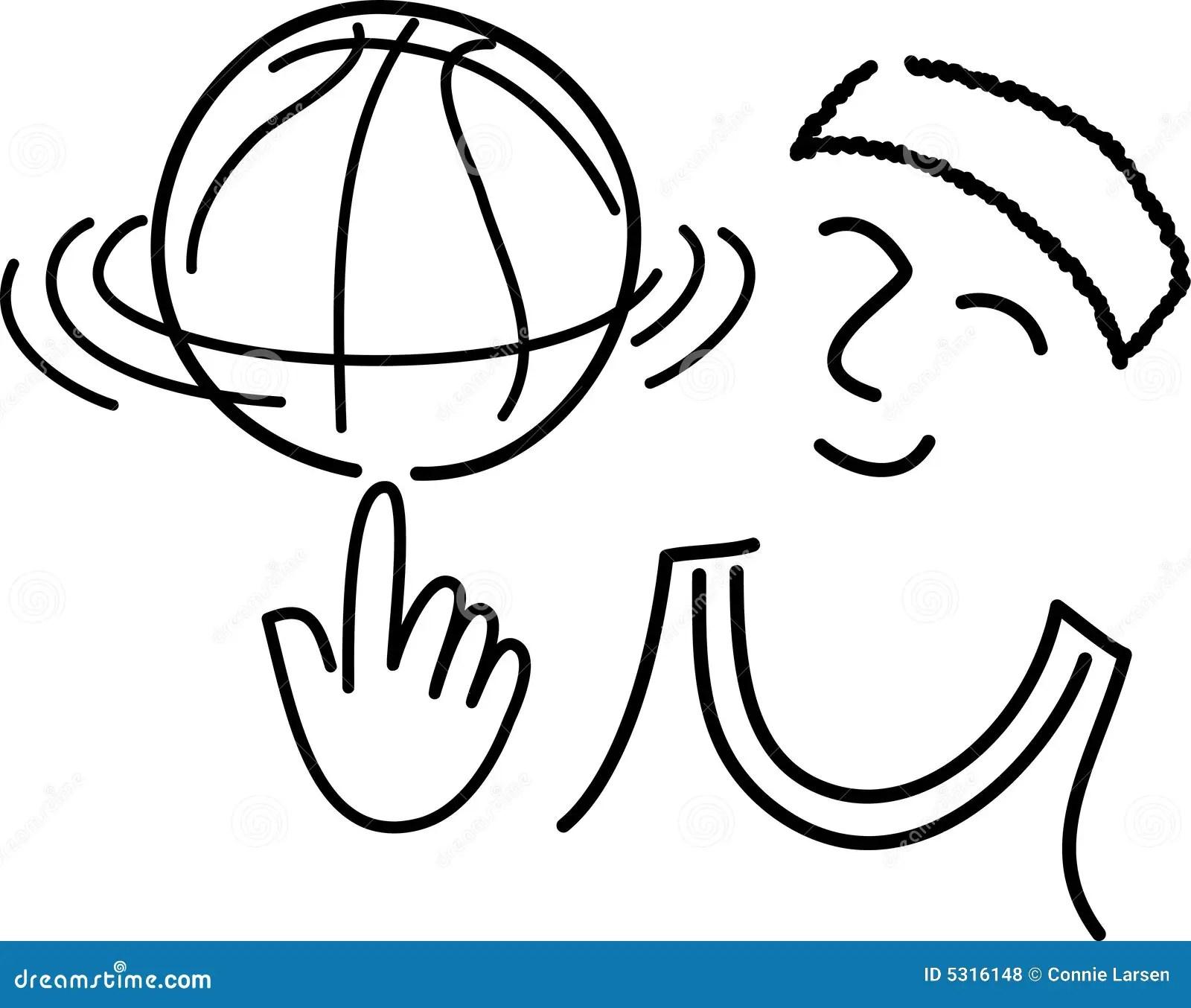 Cartoon Basketball Player Ai Royalty Free Stock Photos