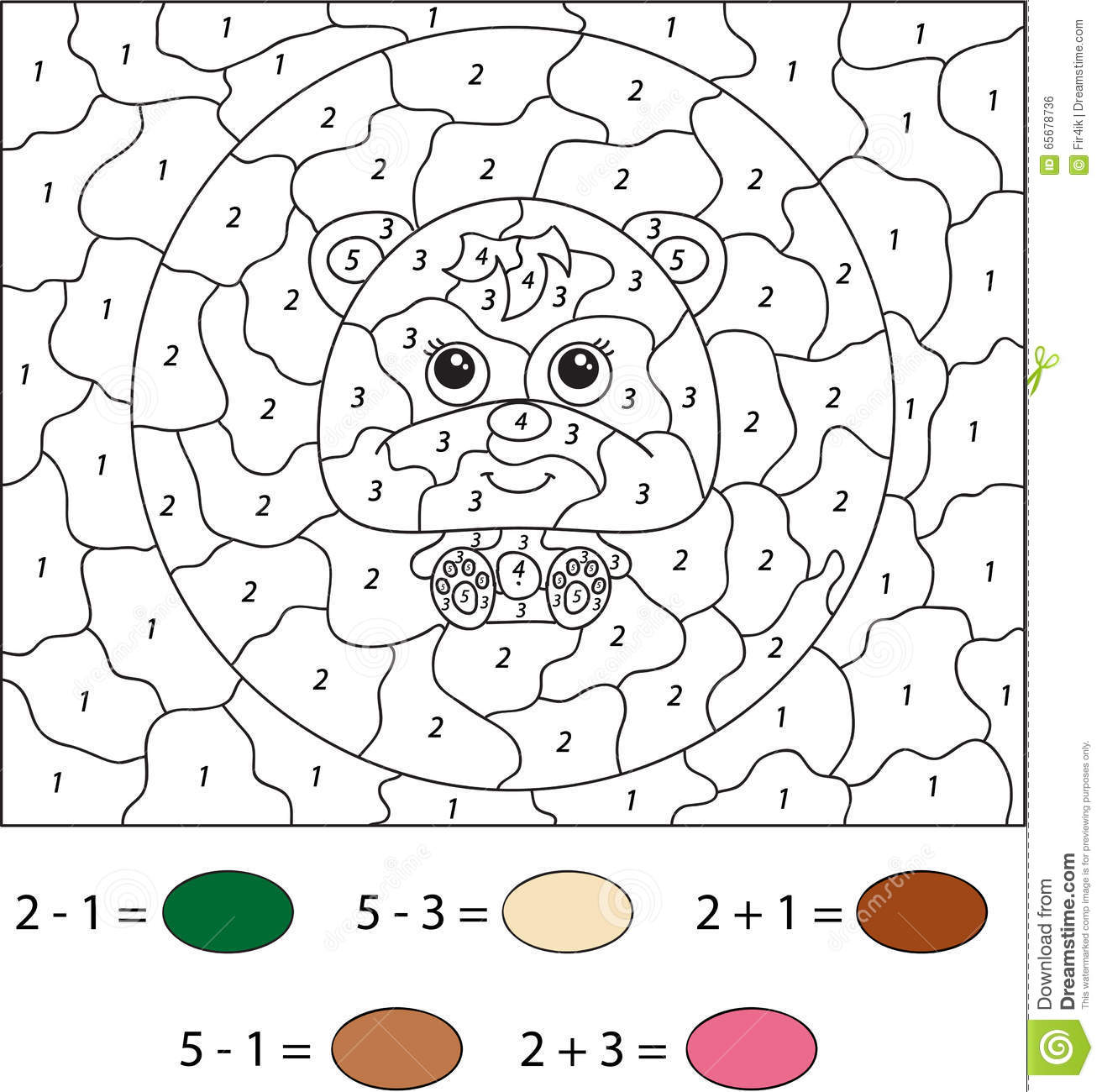 Teddy Bear Worksheet Preschool Number 7