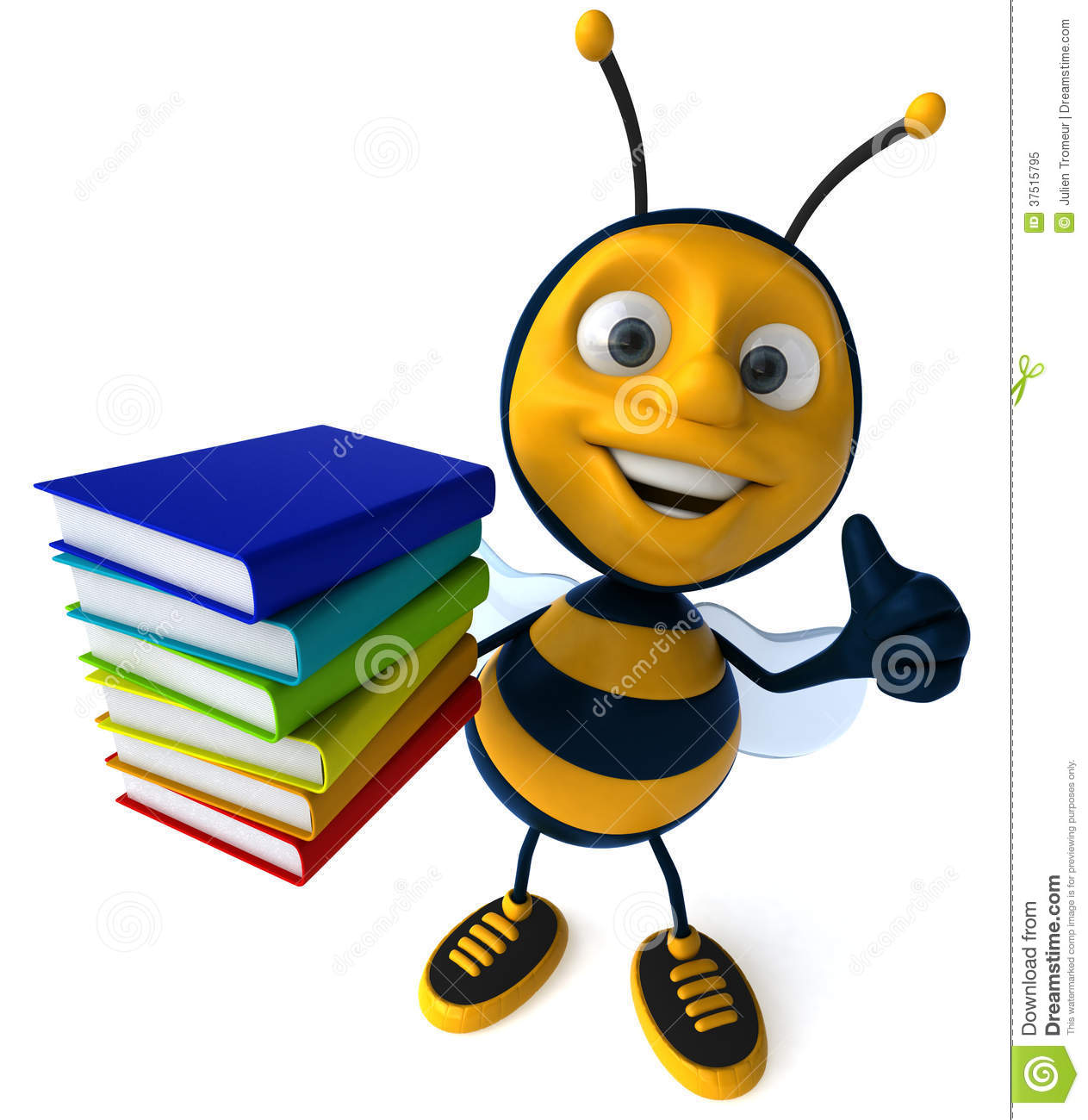Cartoon Bee Royalty Free Stock Photo Image 37515795