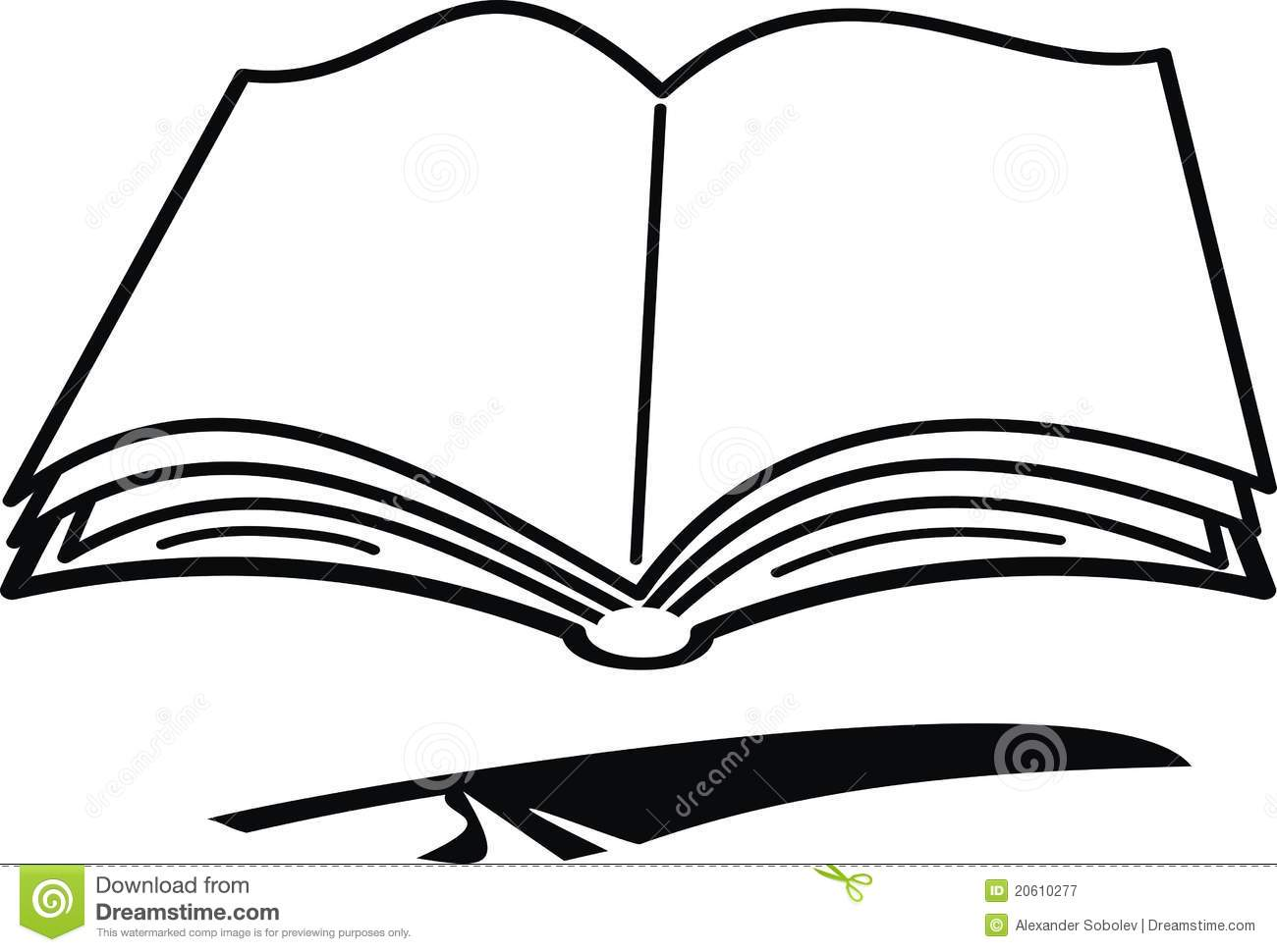 Cartoon Book And Feather Stock Vector Illustration Of