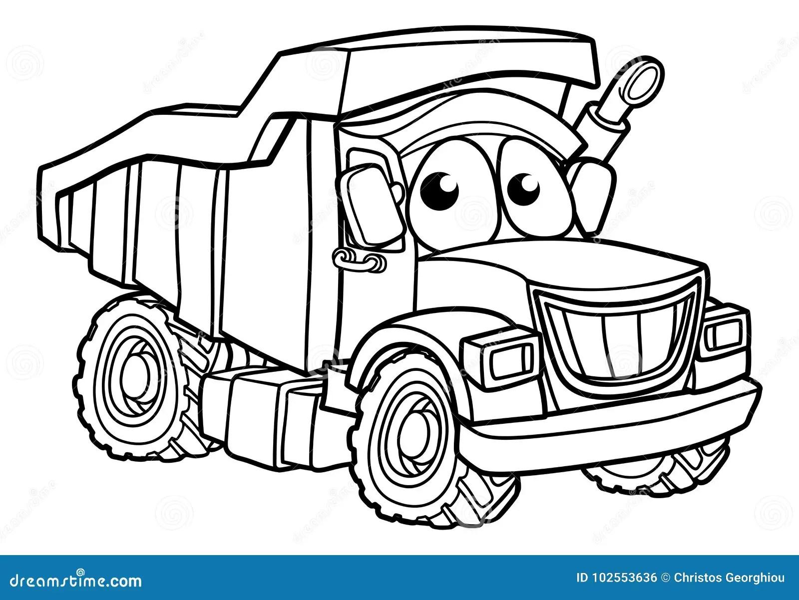 Cartoon Character Dump Truck Stock Vector