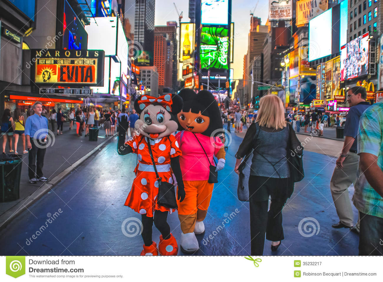Cartoon Characters In Time Square New York Editorial Photography Image Of Destinations