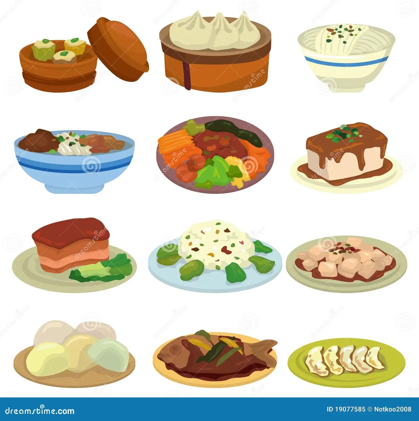 Cartoon Chinese Food Icon Stock Vector Illustration Of