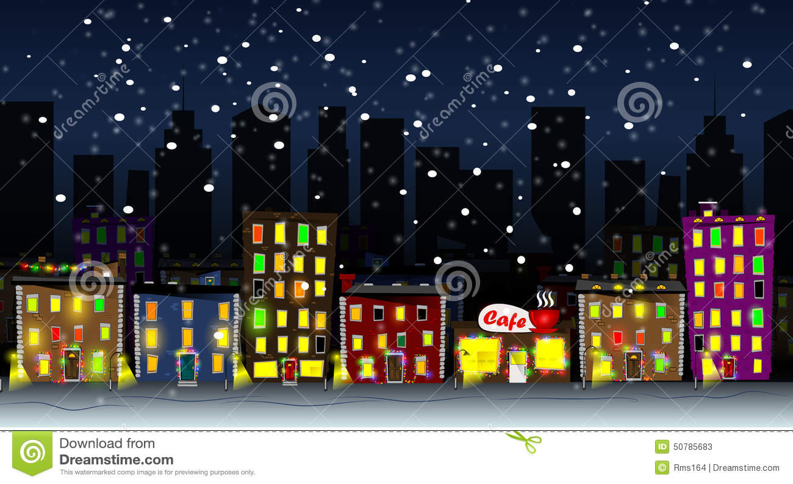 Cartoon City Stock Vector Image 50785683