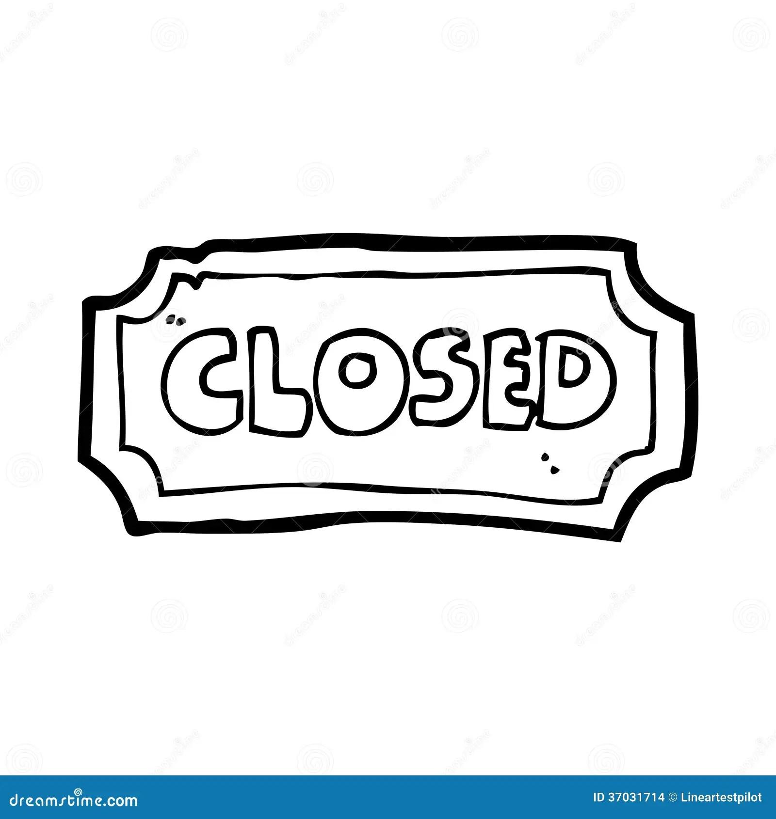 Cartoon Closed Sign Stock Illustration Image Of Symbol