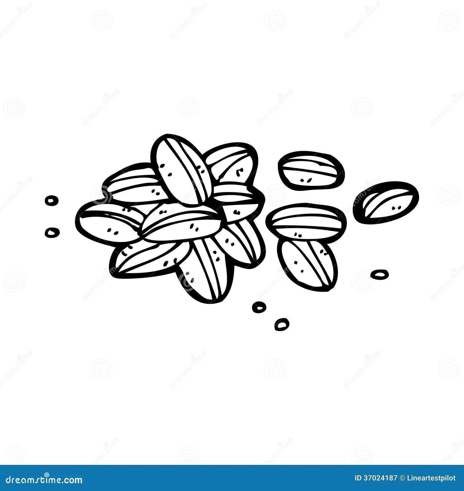 Cartoon Coffee Beans Stock Illustration Illustration Of