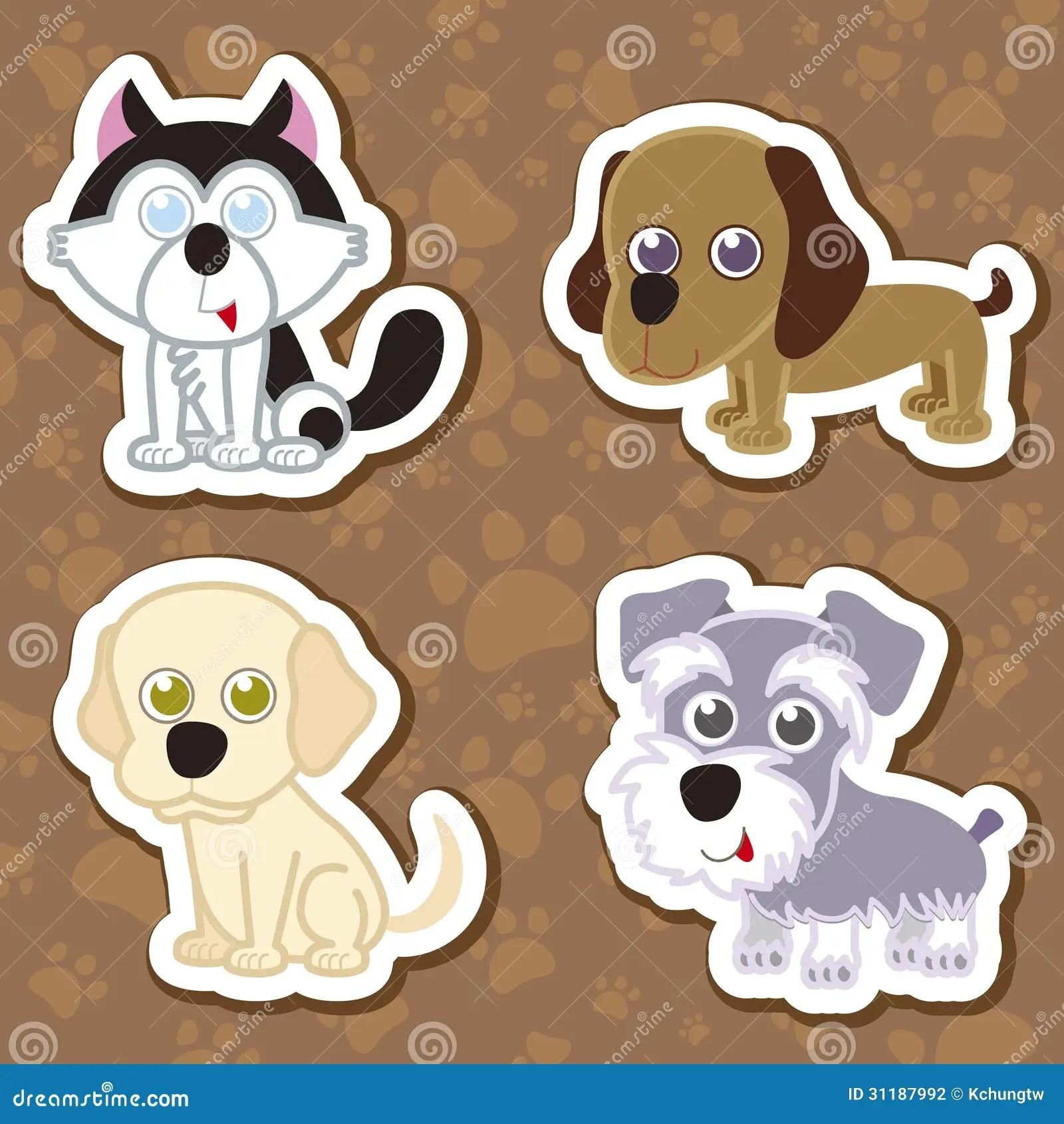cartoon dog sticker set stock photography image 31187992