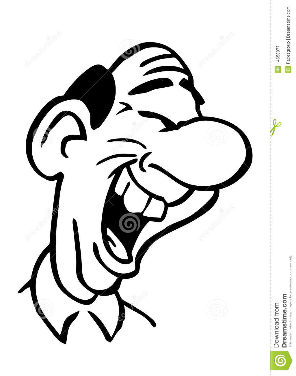 Cartoon Drawing Laughing Man Royalty Free Stock