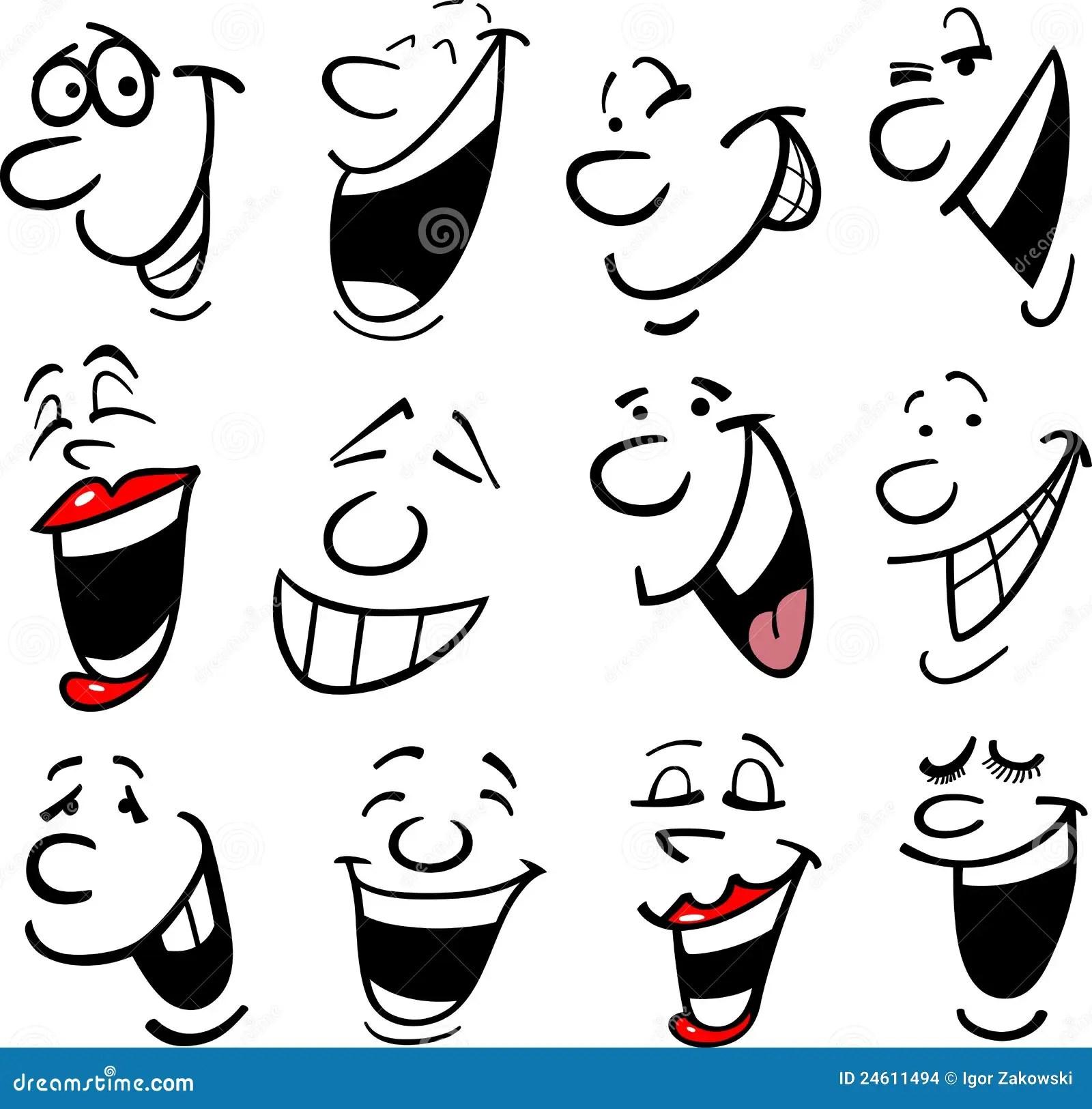 Cartoon Emotions Illustration Stock Vector