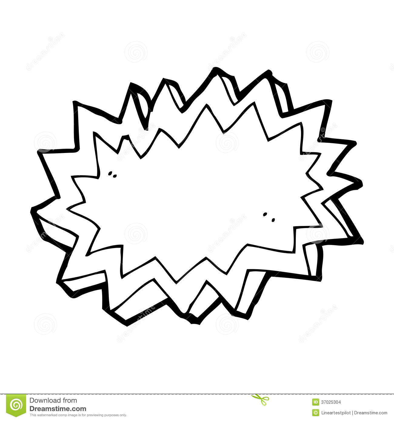 Cartoon Explosion Symbol Stock Images