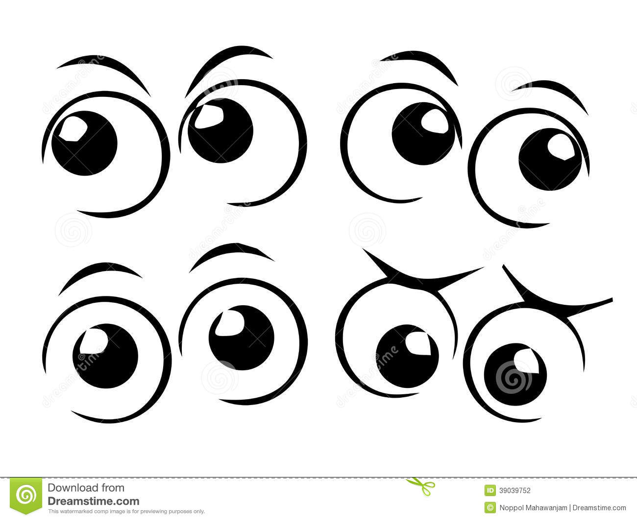 Cartoon Eyes Stock Vector Illustration Of Collection