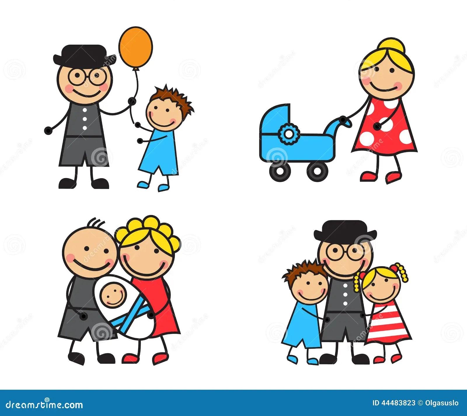 Cartoon Family Stock Vector Illustration Of Childhood