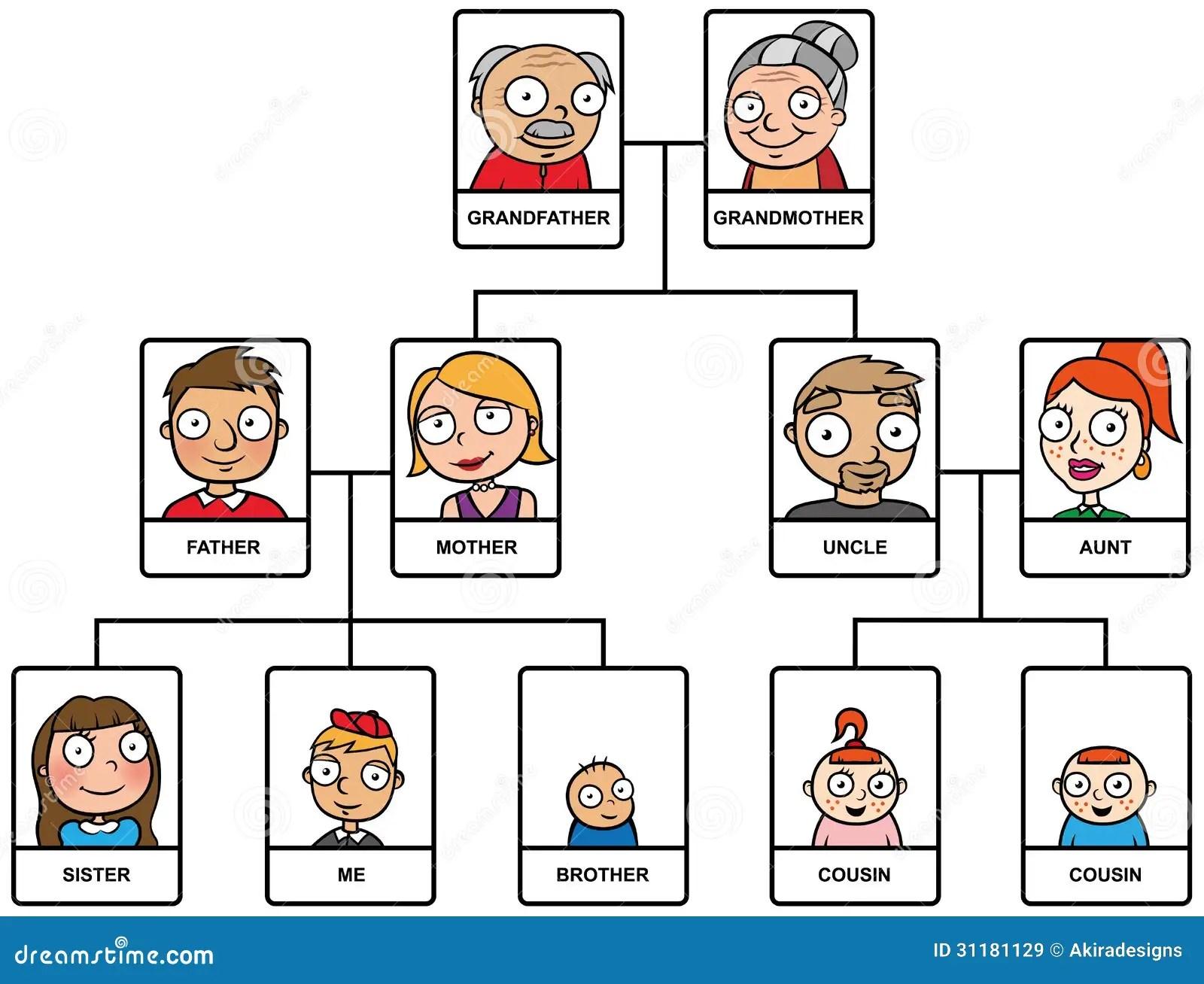 Cartoon Family Tree Stock Vector Illustration Of Tree