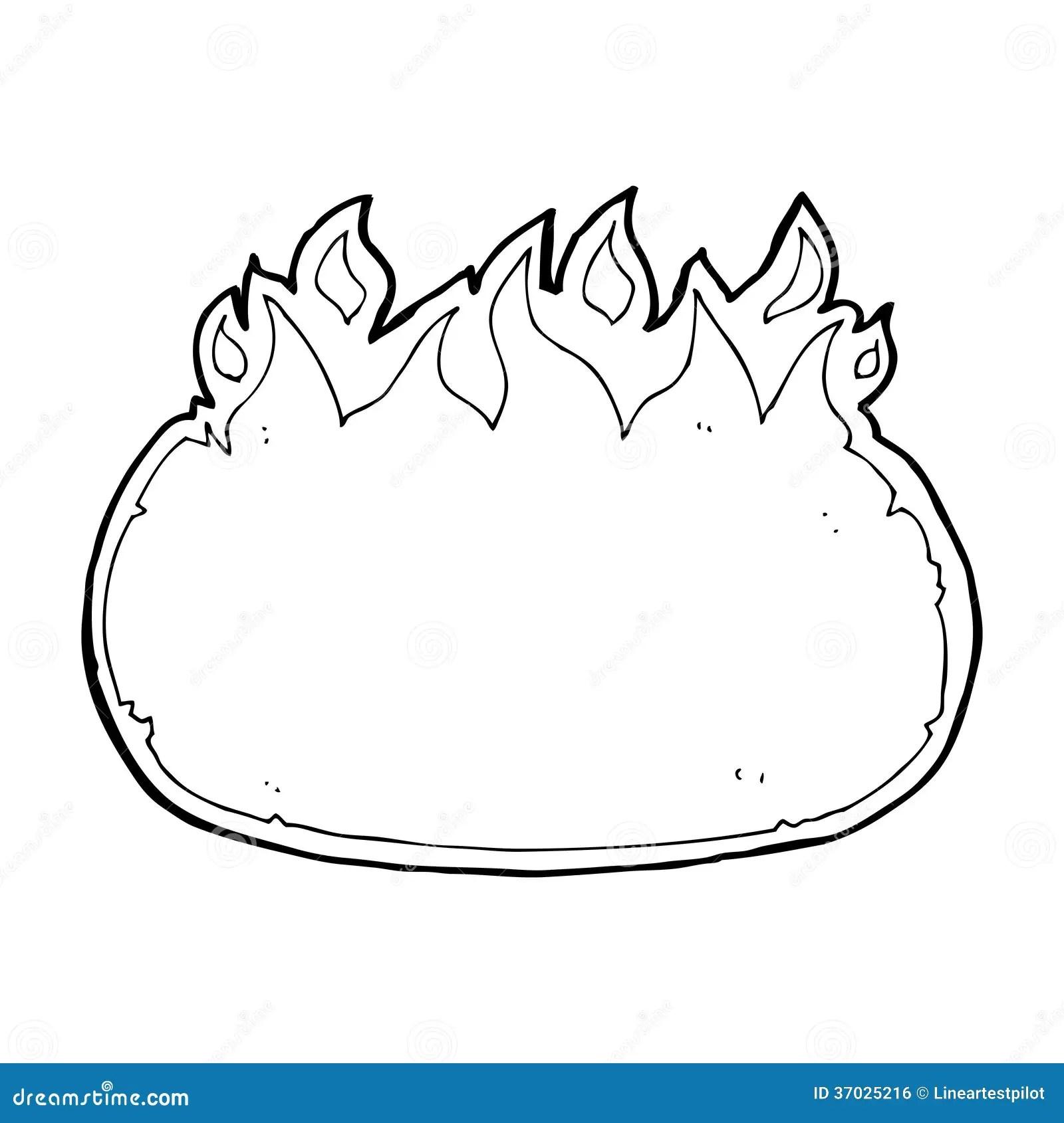 Cartoon Fire Border Royalty Free Stock Image