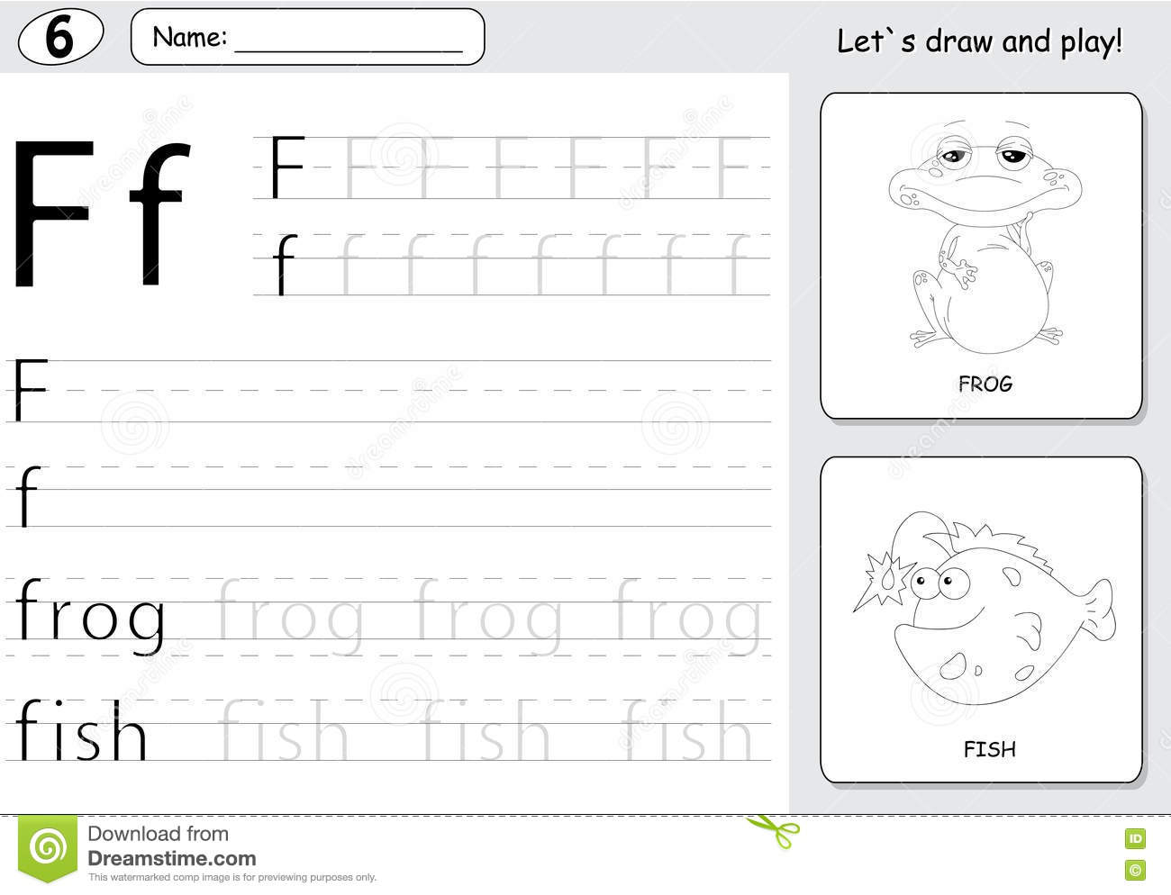 Cartoon Frogs Worksheet