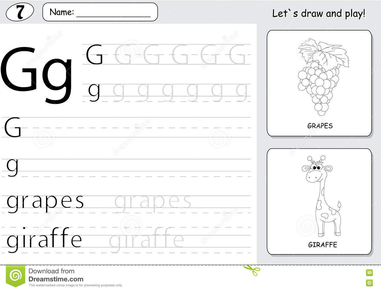 Giraffe Letter Worksheet