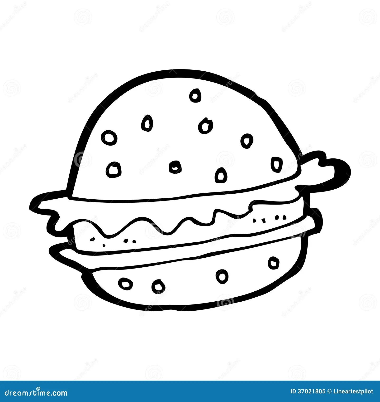 Cartoon Hamburger Stock Illustration Illustration Of