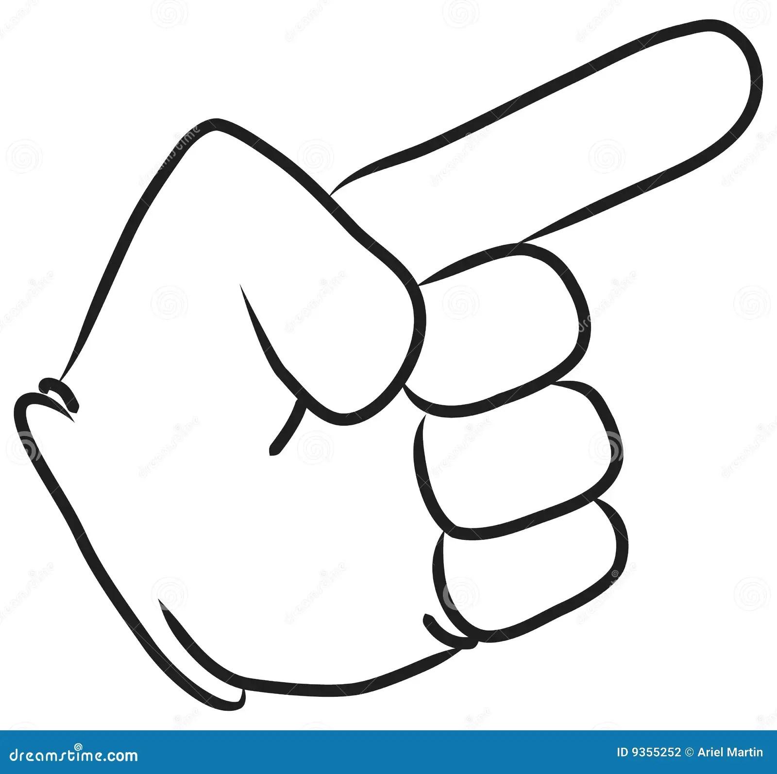 Cartoon Hand Pointing Stock Photography