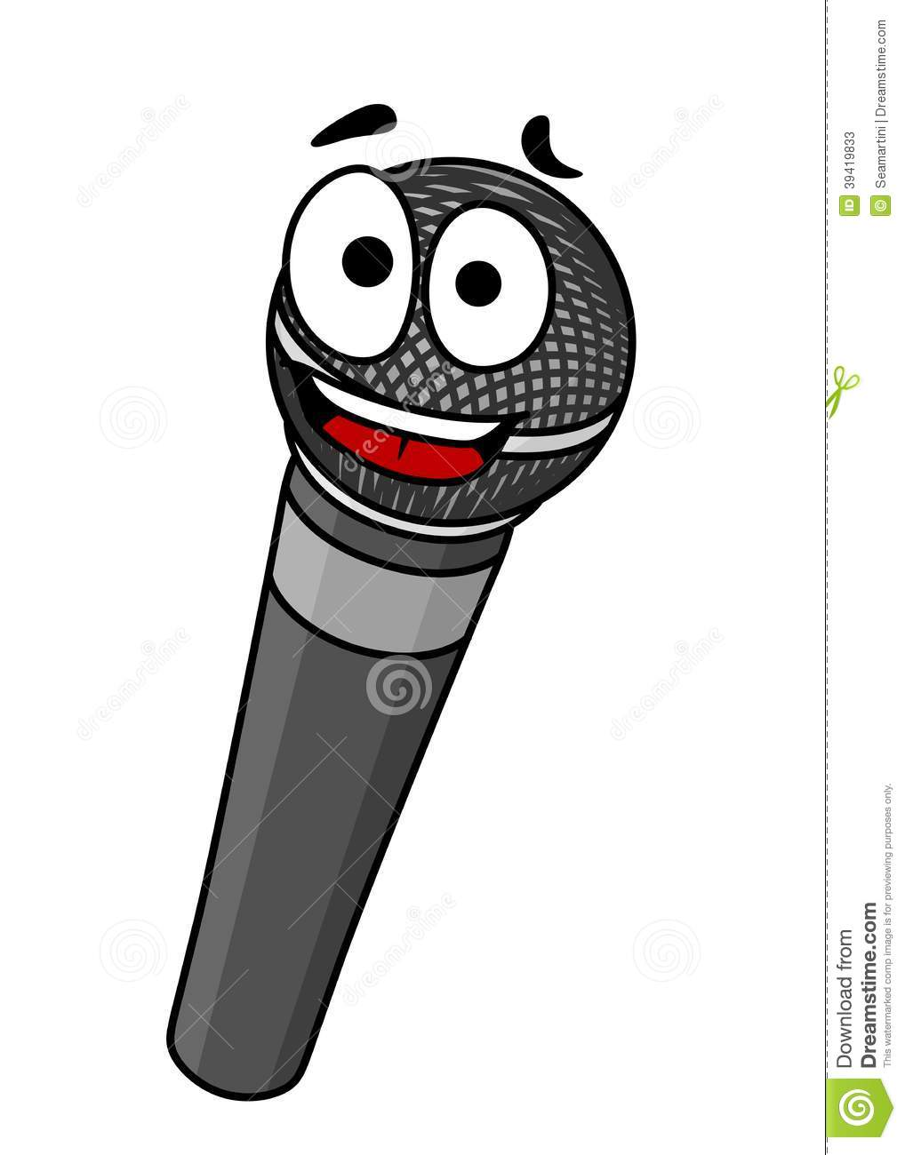 Cartoon Handheld Microphone Stock Vector Image 39419833