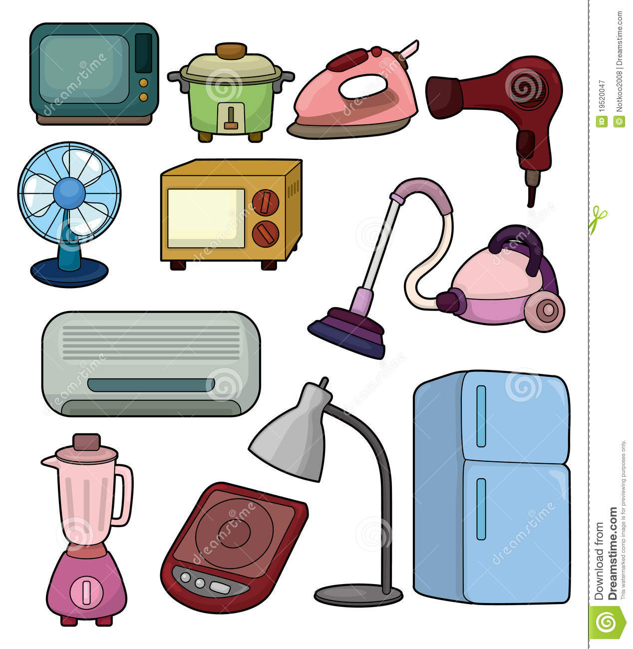 Cartoon Home Appliance Icon Royalty Free Stock Photography