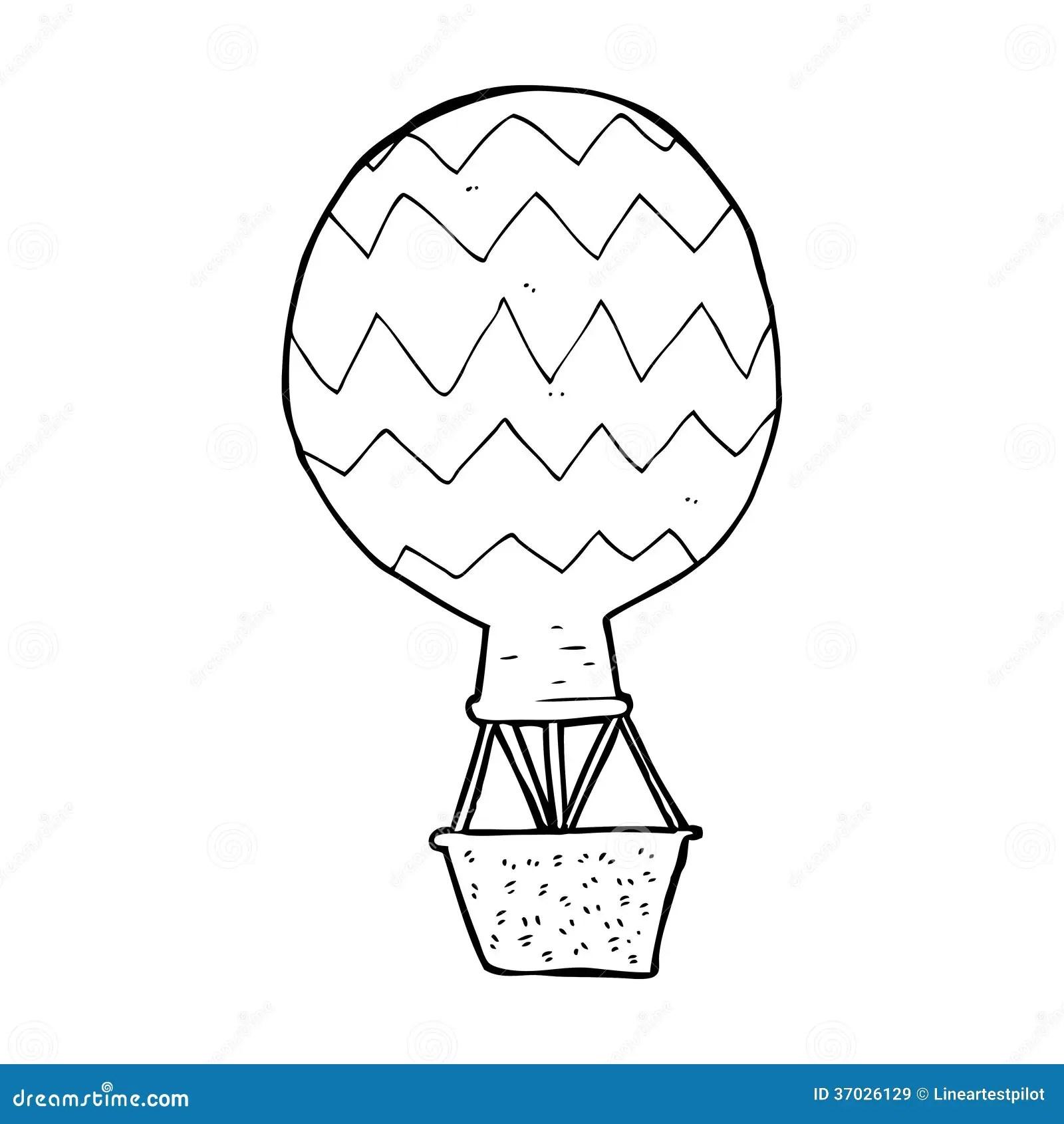 Cartoon Hot Air Balloon Royalty Free Stock Images