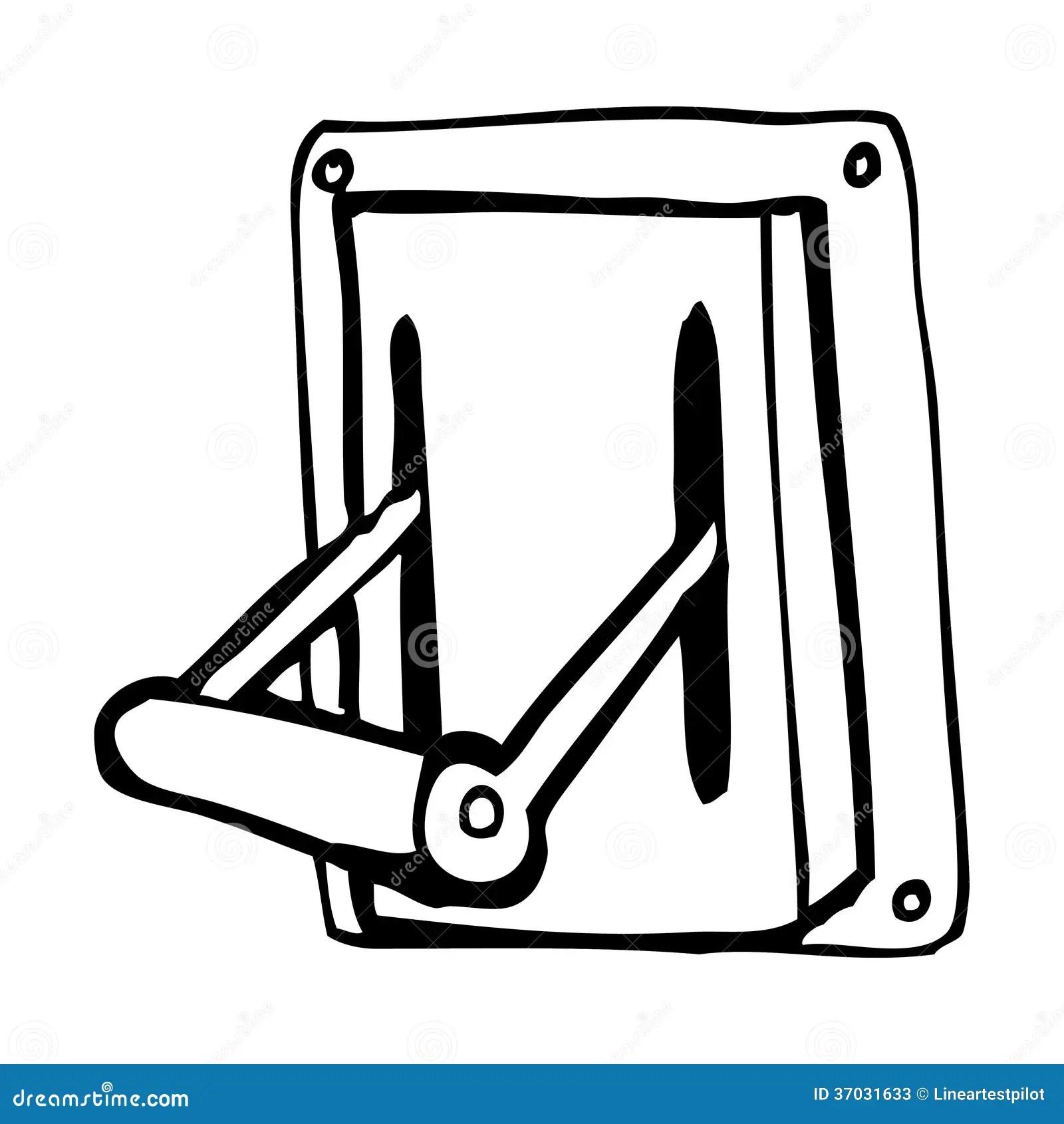 Cartoon Industrial Machine Lever Stock Illustration