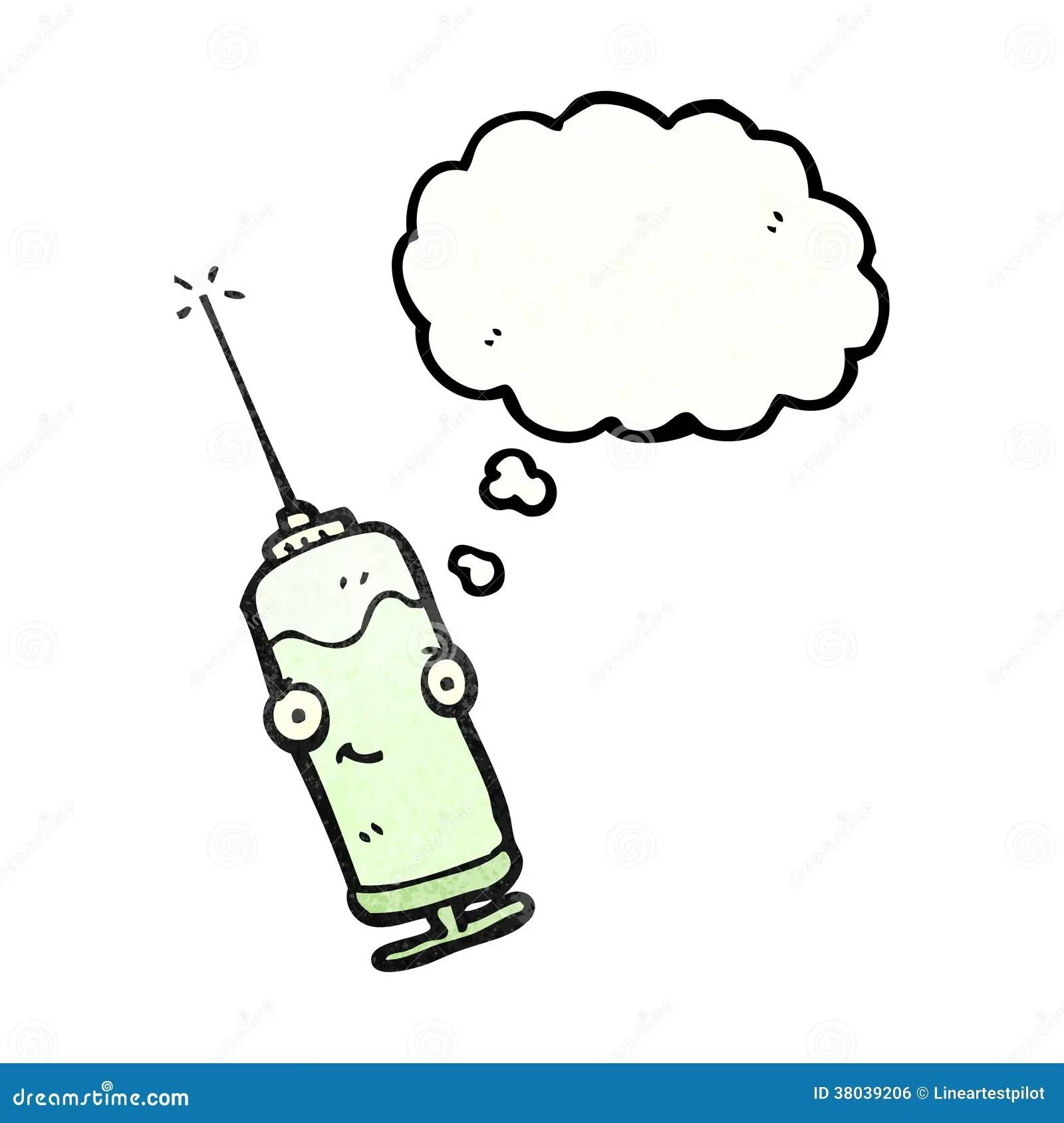 Cartoon Injection Needle Royalty Free Stock Image