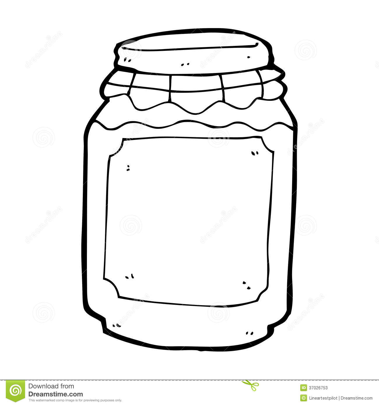 Cartoon Jar Of Jam Stock Illustration Illustration Of