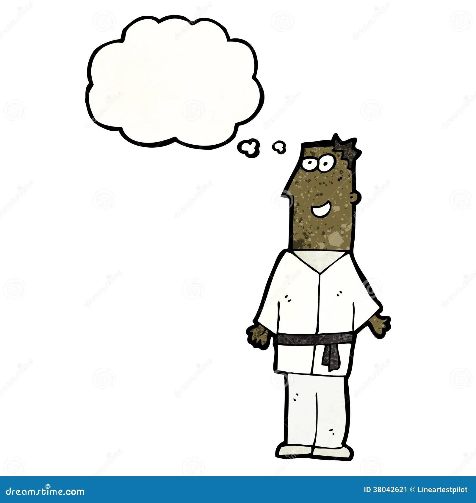 Cartoon Karate Expert Vector Illustration
